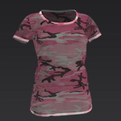 Pink Transparent Camo Tee