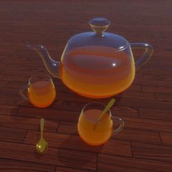 Crystal Honey Glass Tea Set