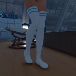 Thigh High Socks (Baby Blue)