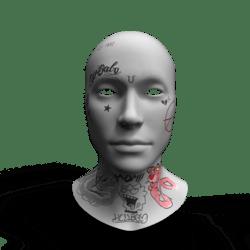 LilPeep Face Tattoo