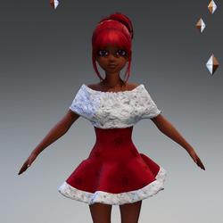 CuteWinterDoll-red