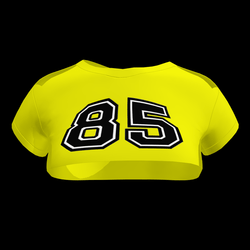 Sexy 85 Crop Top (Yellow)