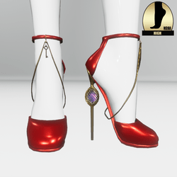 Galaxy cage heels for the h2ai high - red gold