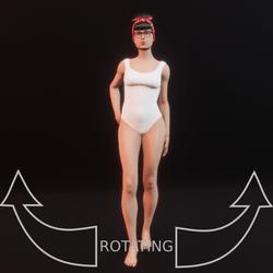 model pose 5 rotating