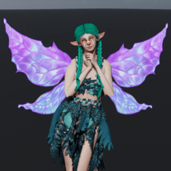 Animated Purple Fairy Wings [Necklace Slot]
