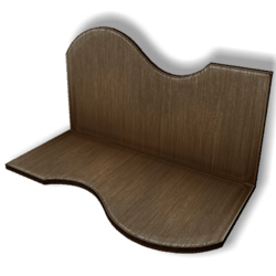 Display For Shop ( H5-W10-D5 ) - Brown - Collision Mesh