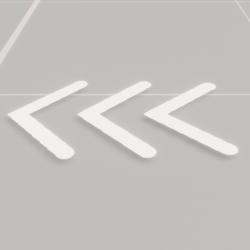 Arrow White Animation Static Mesh Flipbook (Animated)
