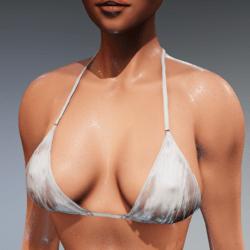 Bad Bunny wet look bikini top loose (white) for Kismet Body  by Apocalypse Bunnies