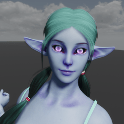 Space Elf Avatar (Emissive Eyes)