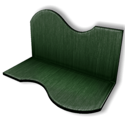 Display For Shop ( H5-W10-D5 ) - Green - Collision Mesh