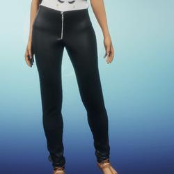casual black pants