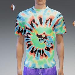 Blue Summer Hip Tie-Dye T-Shirt - Male