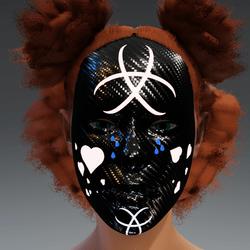 Glow in the Dark Facie Black Mask