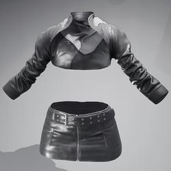 Vinx's Jacket + Skirt Leather