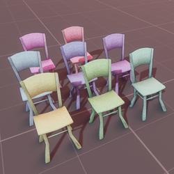 Moda chair v.2 - pastel paradise