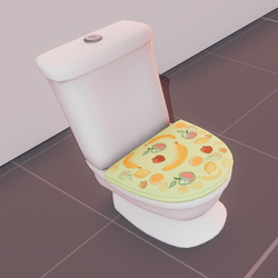 Classic toilet - lime fruit cover (animated)