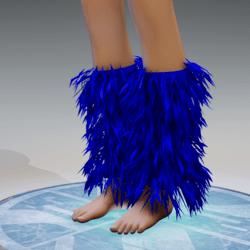 GoGo Dancer Furry Legwarmers BLUE