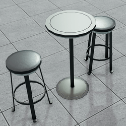Bar Table and Stool Set | Modern Sleek