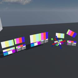quad split Screens 16x9
