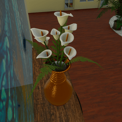 Calla Lily Bouquet In Gold Vase
