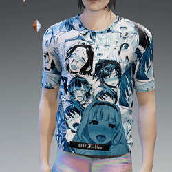 Blue Tint Ahegao T-Shirt