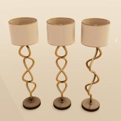 Helix Floor Lamp Gold