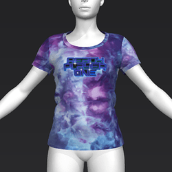 Ready Player One: Logo T-Shirt Variant (Tiedye) (W)