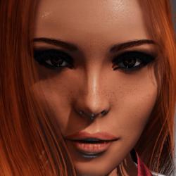 Irene Head with wet skin (smoky eye)  for Kismet Body by Apocalypse Bunnies
