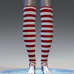 Elf leg warmers for female avatar 2 - red