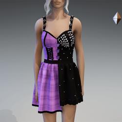 "Kawaii Goth Dress ""Kuma"" Lilac"