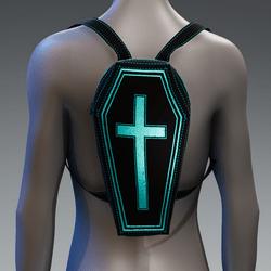 Metallic Coffin Cross Backpack [Teal]