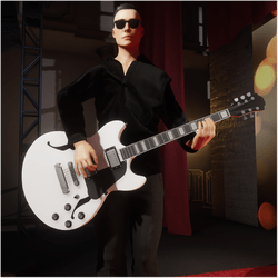 Jazz/Blues Guitar White (Wearable)