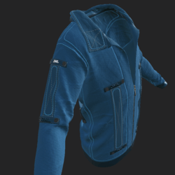 SHUAN JACKET EMISSIVE LIGHT BLUE