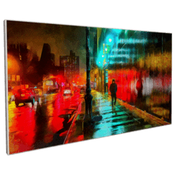 Street by night Painting