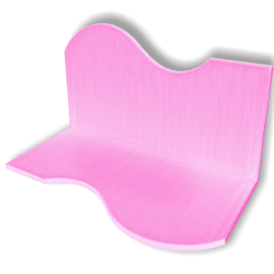 Display For Shop ( H5-W10-D5 ) - Pink - Collision Mesh