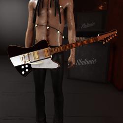 Slatan-o-lux guitar (black and gold)