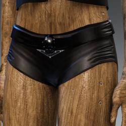 Leather Moto shorts