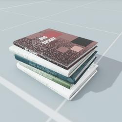 Modern Book Pile