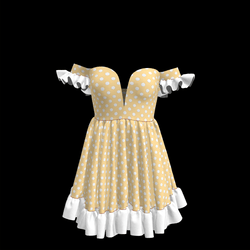 Baby Doll Vintage Polka Dot Dress 06