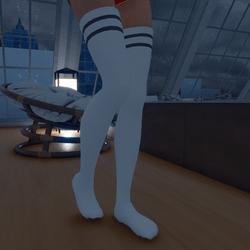 Thigh High Socks (Grey)