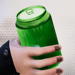 Bottle green in arm