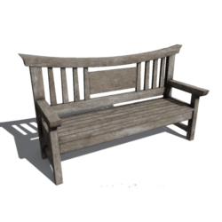 Japanese wooden bench