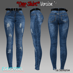 Tight Stretch Jeans (FOR OVER SHIRTS)