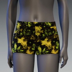 Acid Wash Jean Shorts Pt. 1 [Yellow]