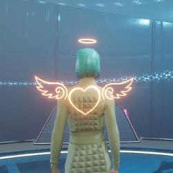 Angel wings light