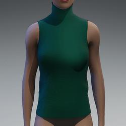 Emerald turtle neck top