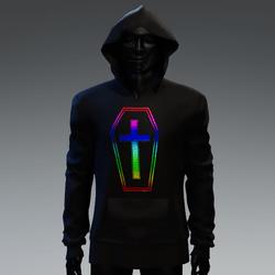 Unisex Coffin Cross Hoodie [Rainbow]
