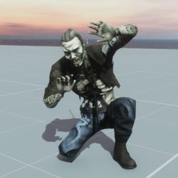 Kneeling Zombie NPC (FROM MIXAMO)