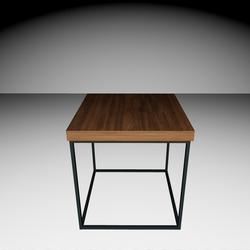 Delano Side-table - Dark brown/Black