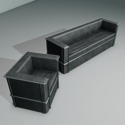 Modern club couch and chair